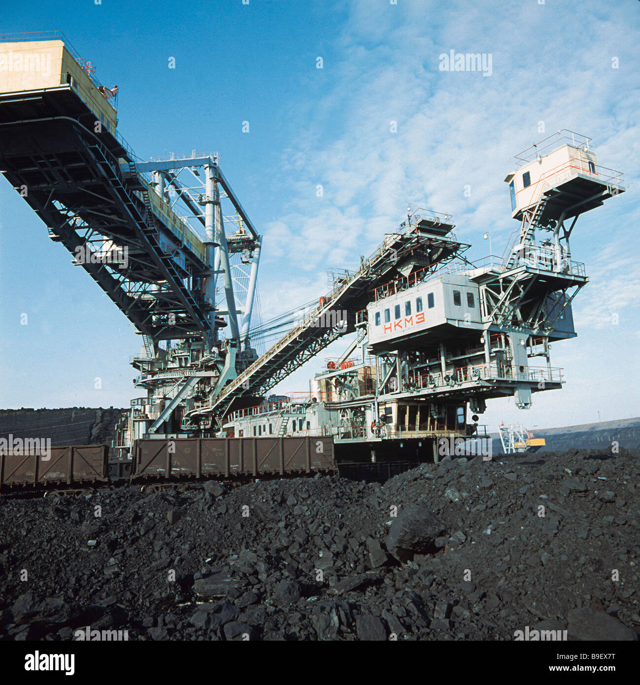 Rotor excavator with a capacity of 5 000 tons of coal per hour manufactured at the Novokramatorsk engineering works - Stock Image