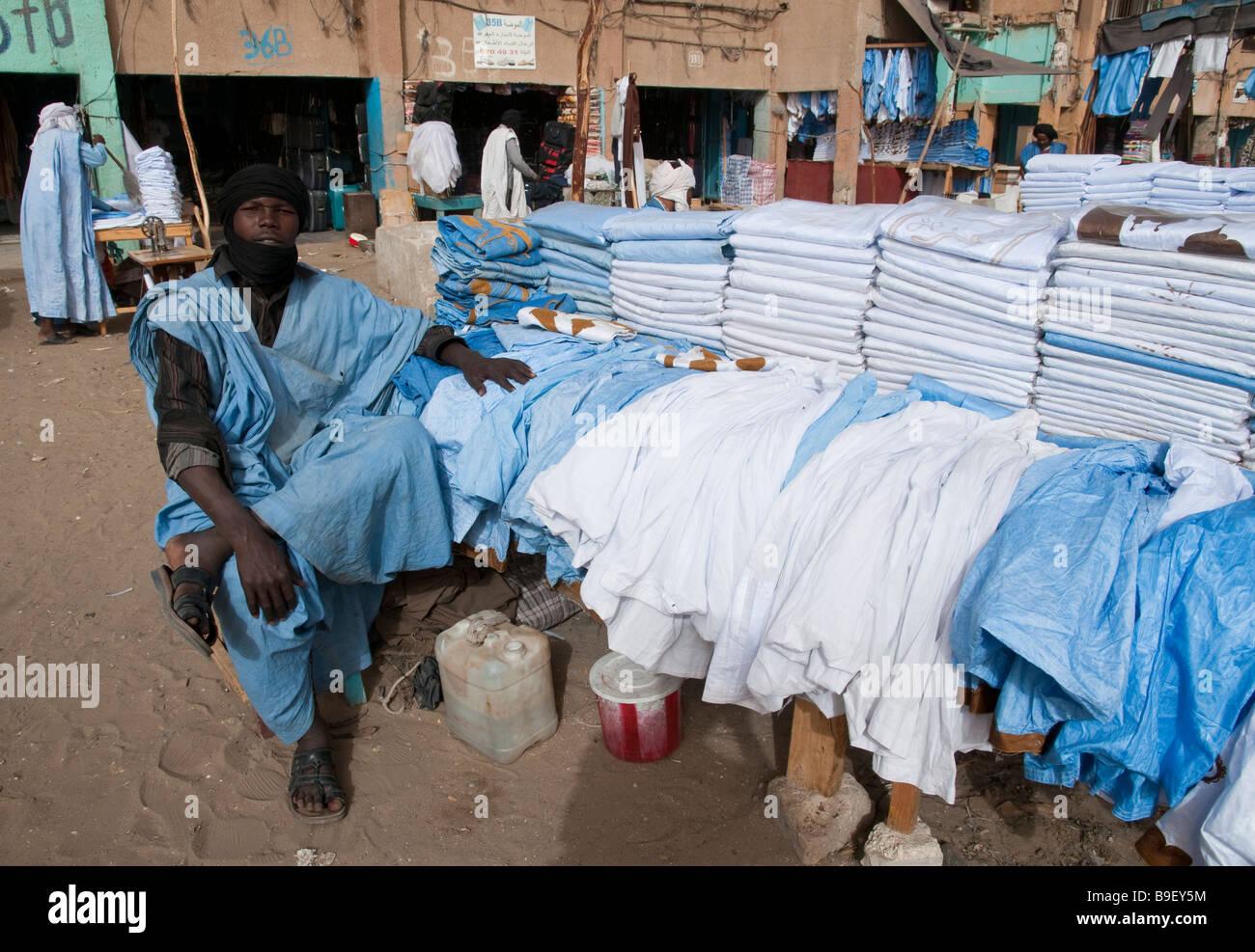 West Africa Mauritania Nouakchott City Centre Main Market - Stock Image