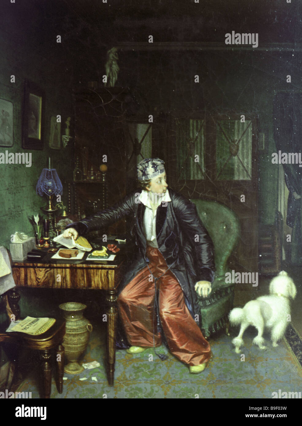 Breakfasting Aristocrat by Fedotov 1815 1852 Canvass oil The Tretyakov State Gallery - Stock Image