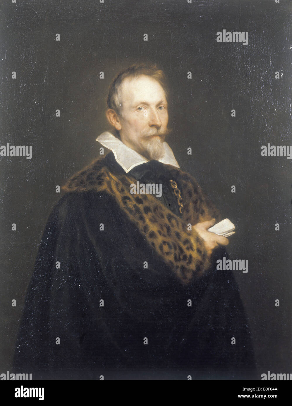 Sir Anthony van Dyck 1599 1641 Portrait of Jan van den Wouver Oil on canvas 106 x 83 cm State Pushkin Fine Arts - Stock Image
