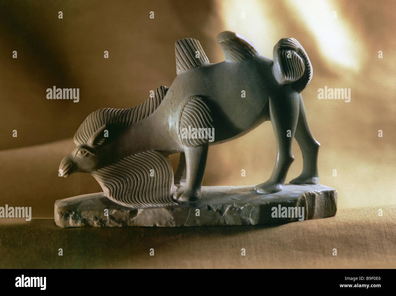 Camel a statuette by sculptor Khertek Toibukhaa - Stock Image