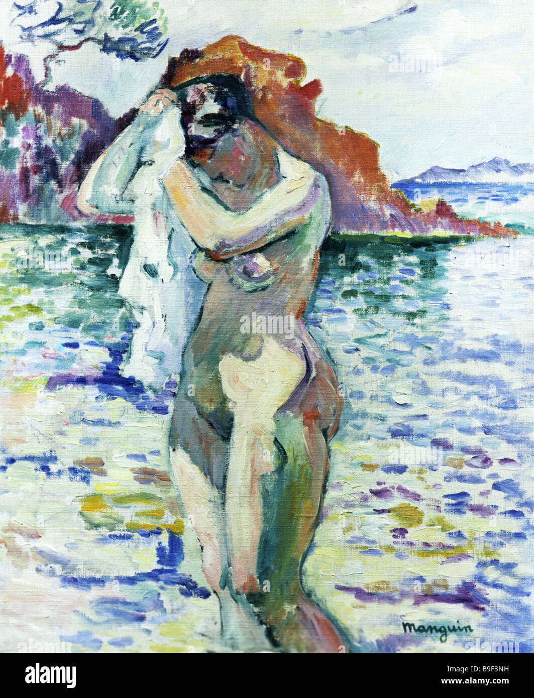 A Bather by Henri Manguin 1906 Reproduction Collection of the State Pushkin Museum of Fine Arts in Moscow - Stock Image