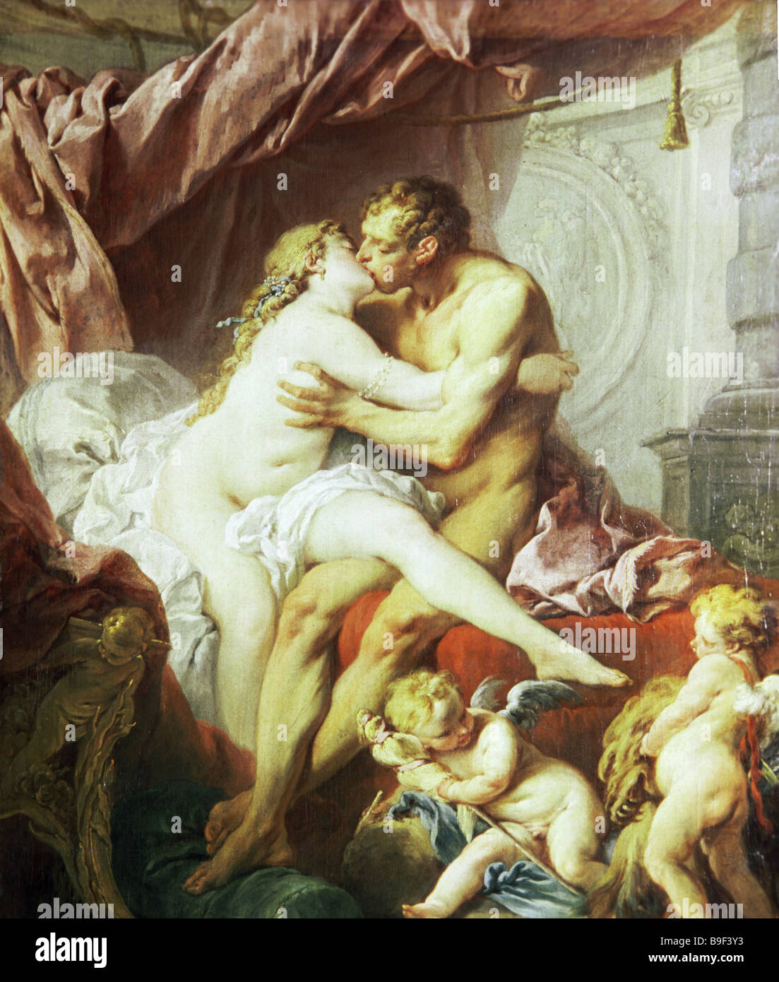 Francois Boucher 1703 1770 Hercules and Omphale State Pushkin Fine Arts Museum Moscow - Stock Image
