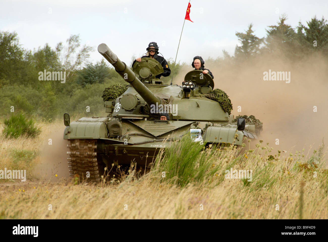 Russian T72 Tank advancing during military show in Holstebro Denmark October 2007 - Stock Image