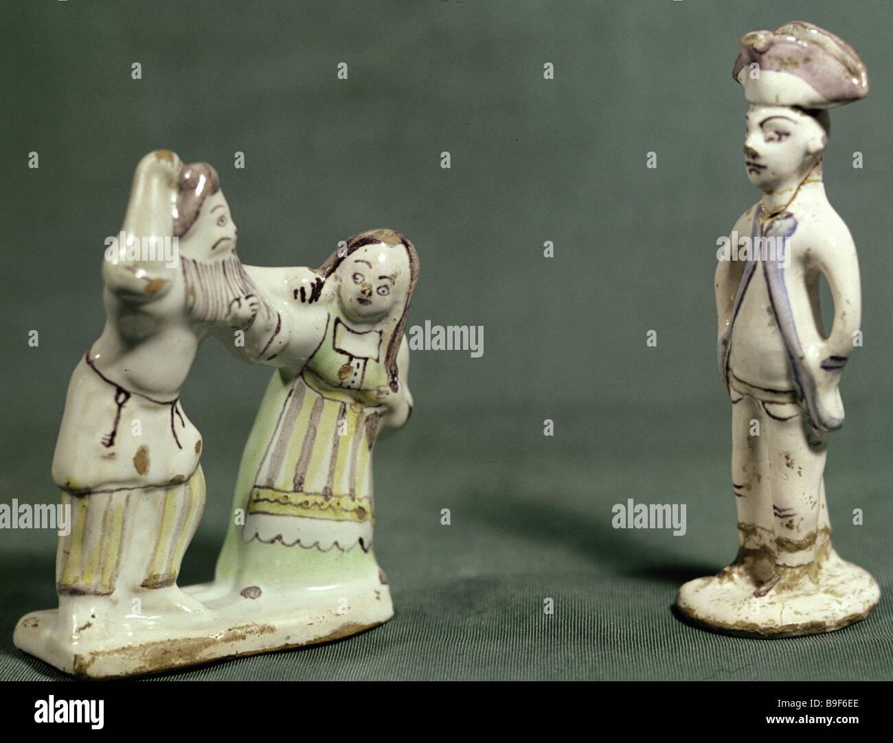 Ceramic figurines 18th century - Stock Image