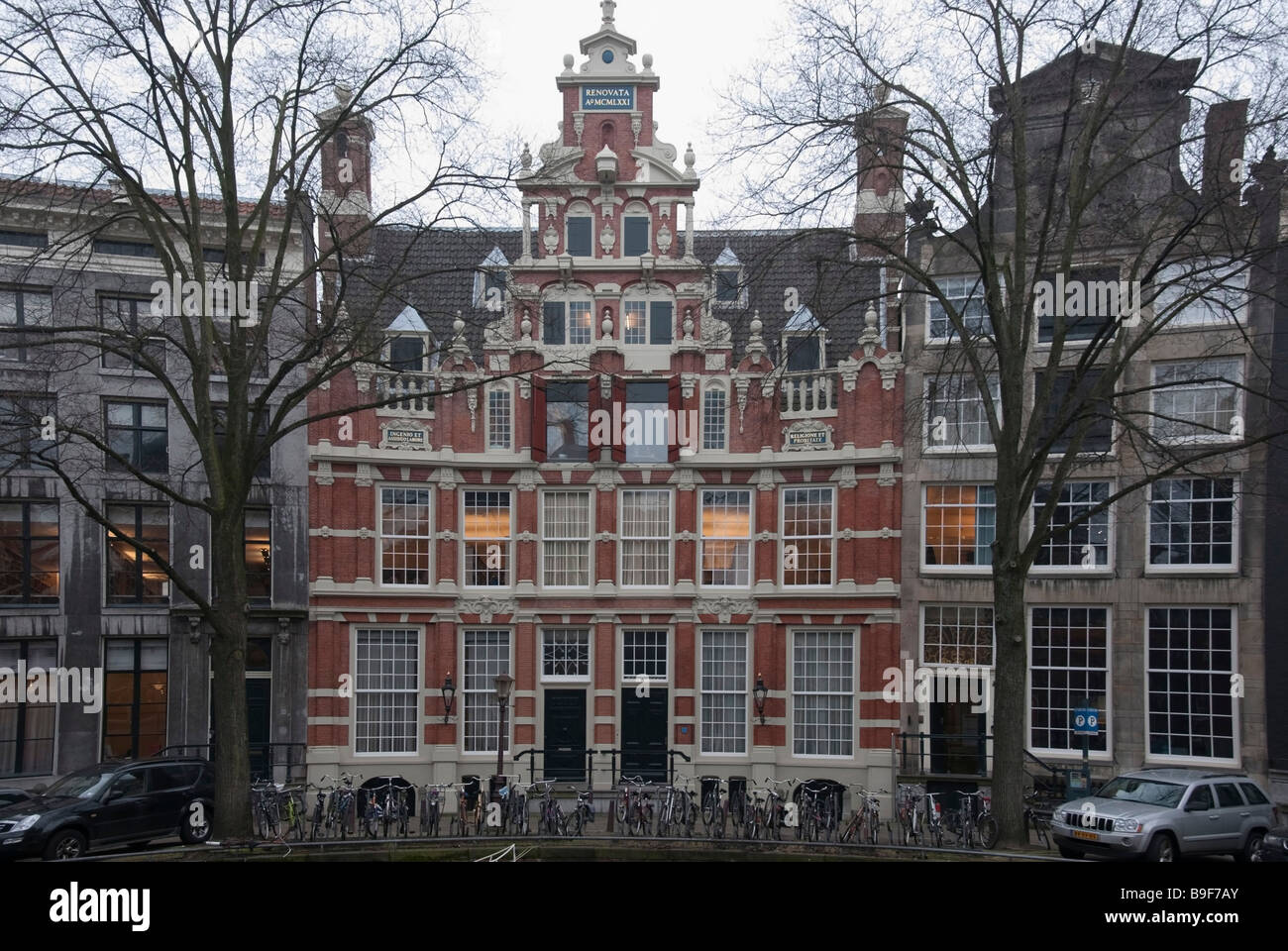Typically Ornate Golden Age Merchants House Amsterdam - Stock Image