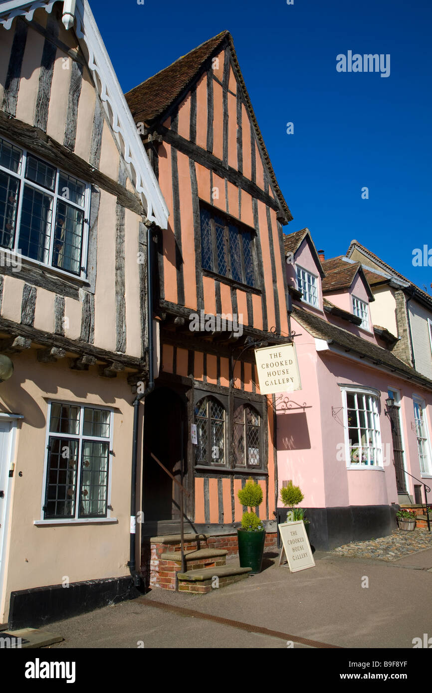 The Crooked House gallery Lavenham Suffolk England Stock Photo