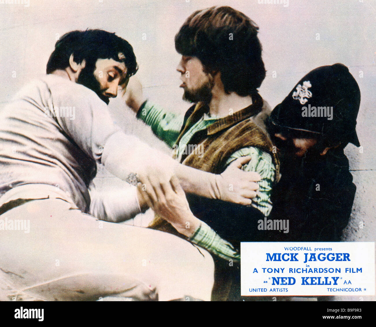 NED KELLY 1970 UA film with Mick Jagger - Stock Image