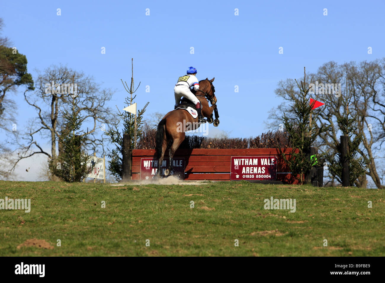 One day Horse trials event covering water jumps and unusual terrain - Stock Image