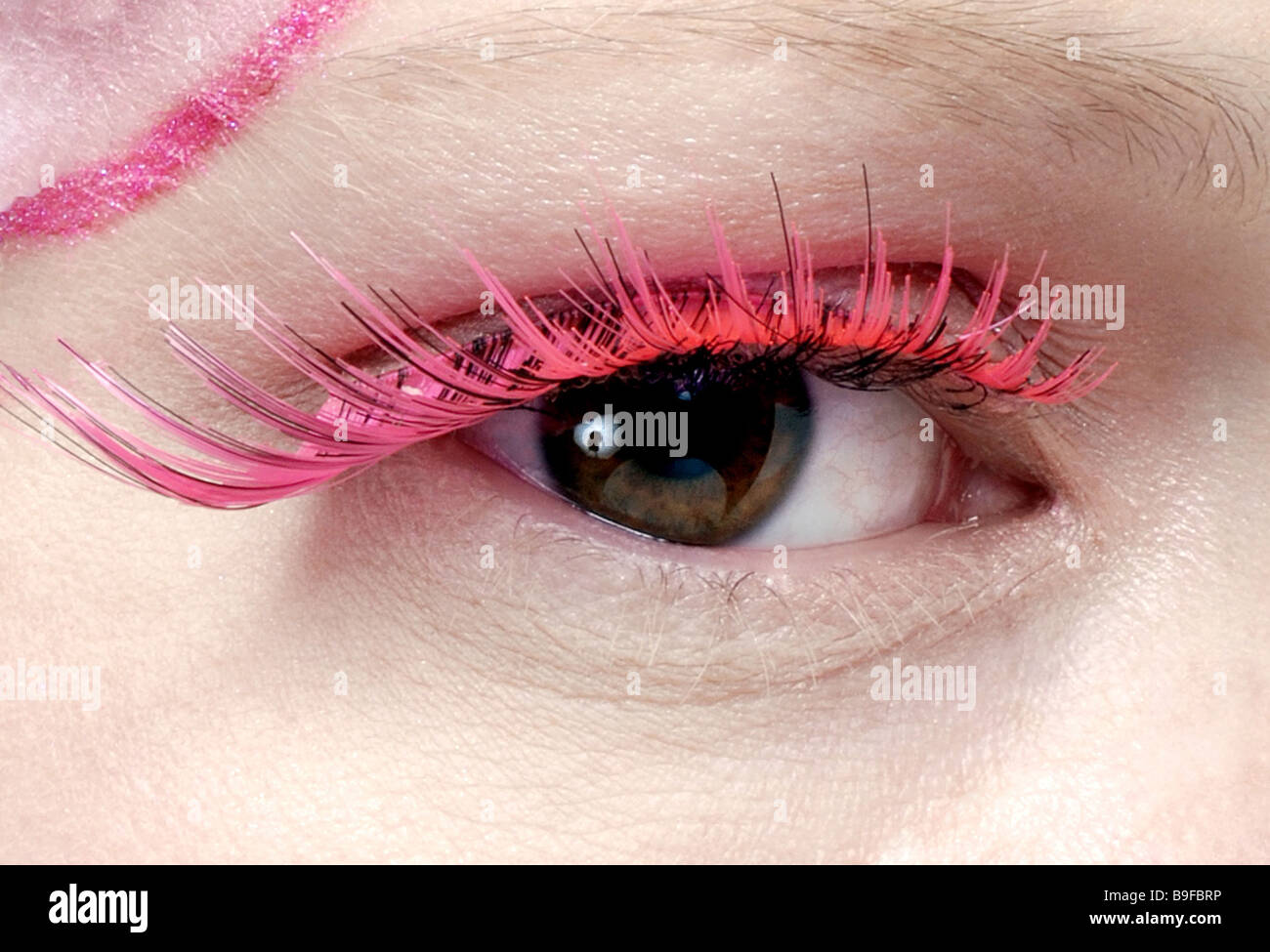 Woman Detail Eye Wrong Eyelashes Pink Beauty People Face Female