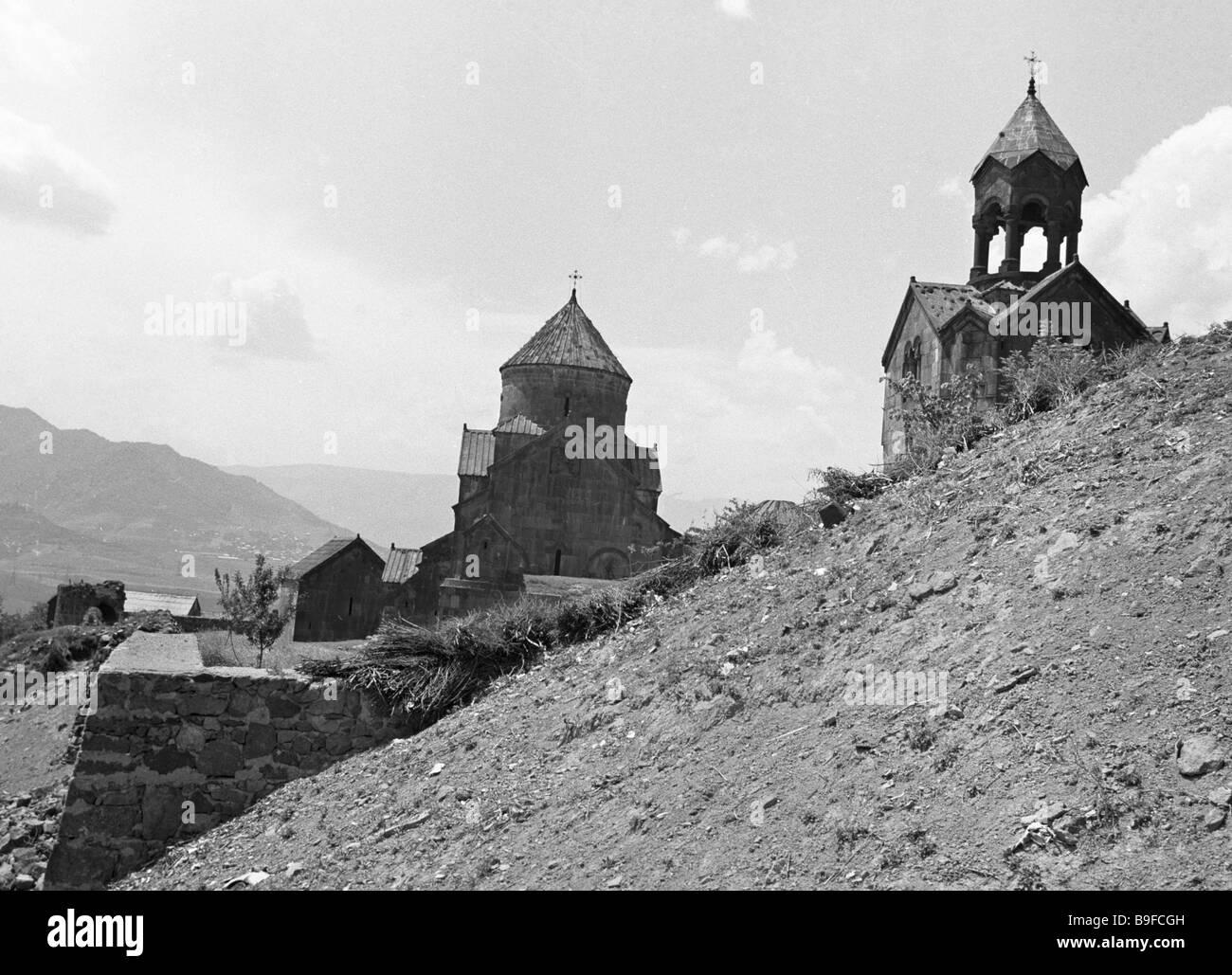 The Akhpat Monastery 10th 13th century - Stock Image