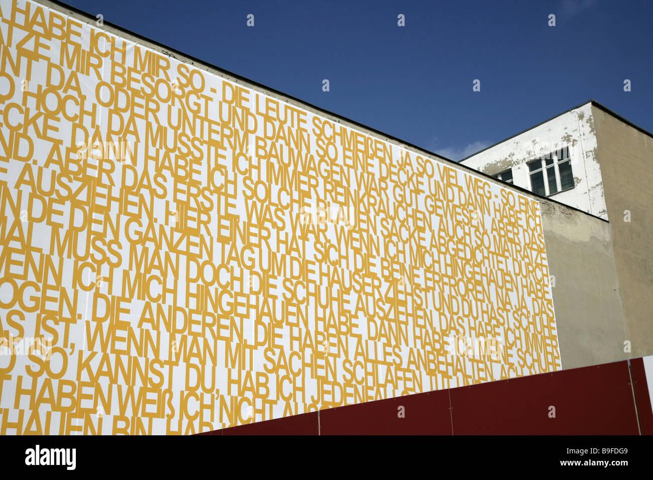 Germany Berlin Berlin wall-way Kochstraße house-facade art Old Stock ...