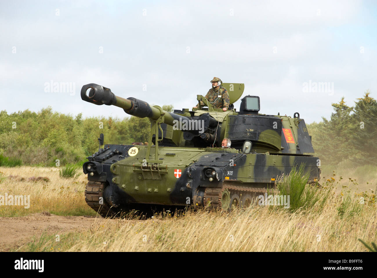 155 mm selfpropelled nato howitzer - Stock Image