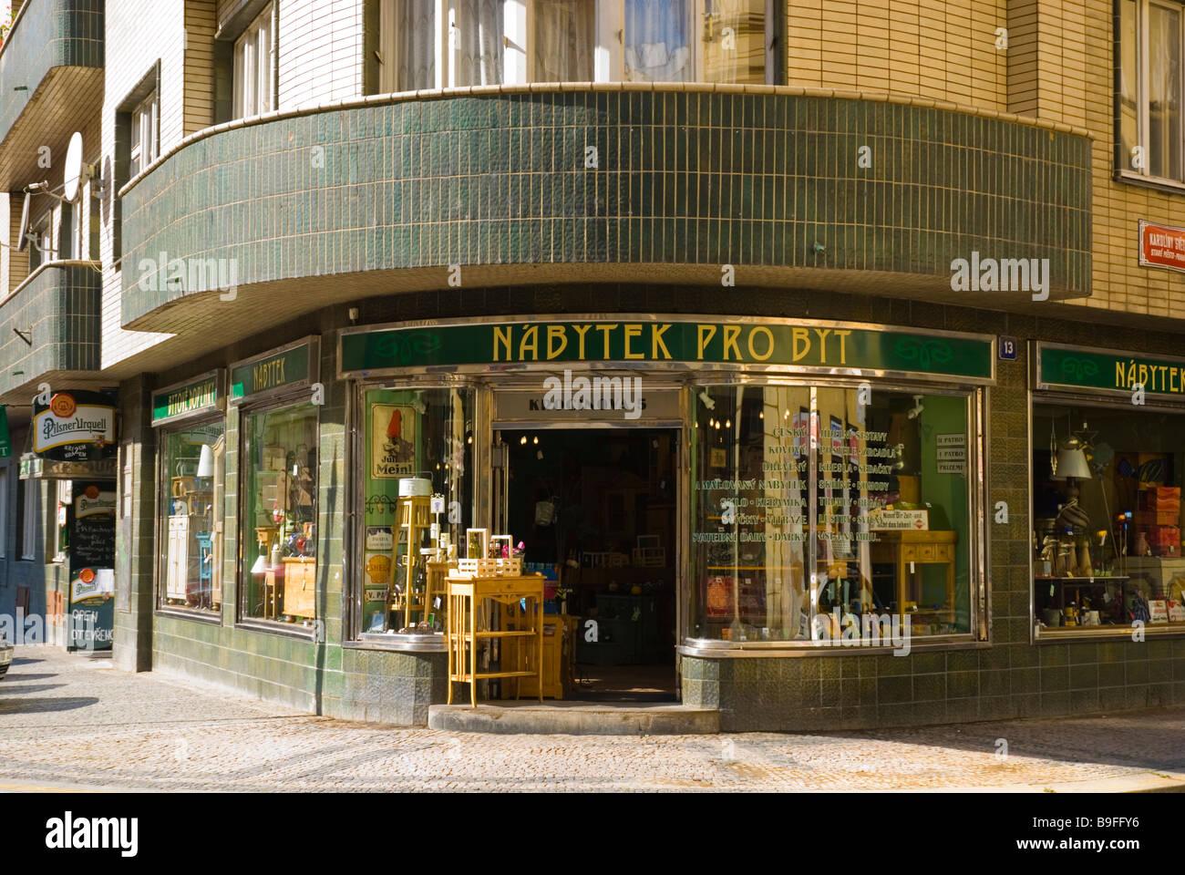 Furniture Shop In Old Town Prague Czech Republic Europe