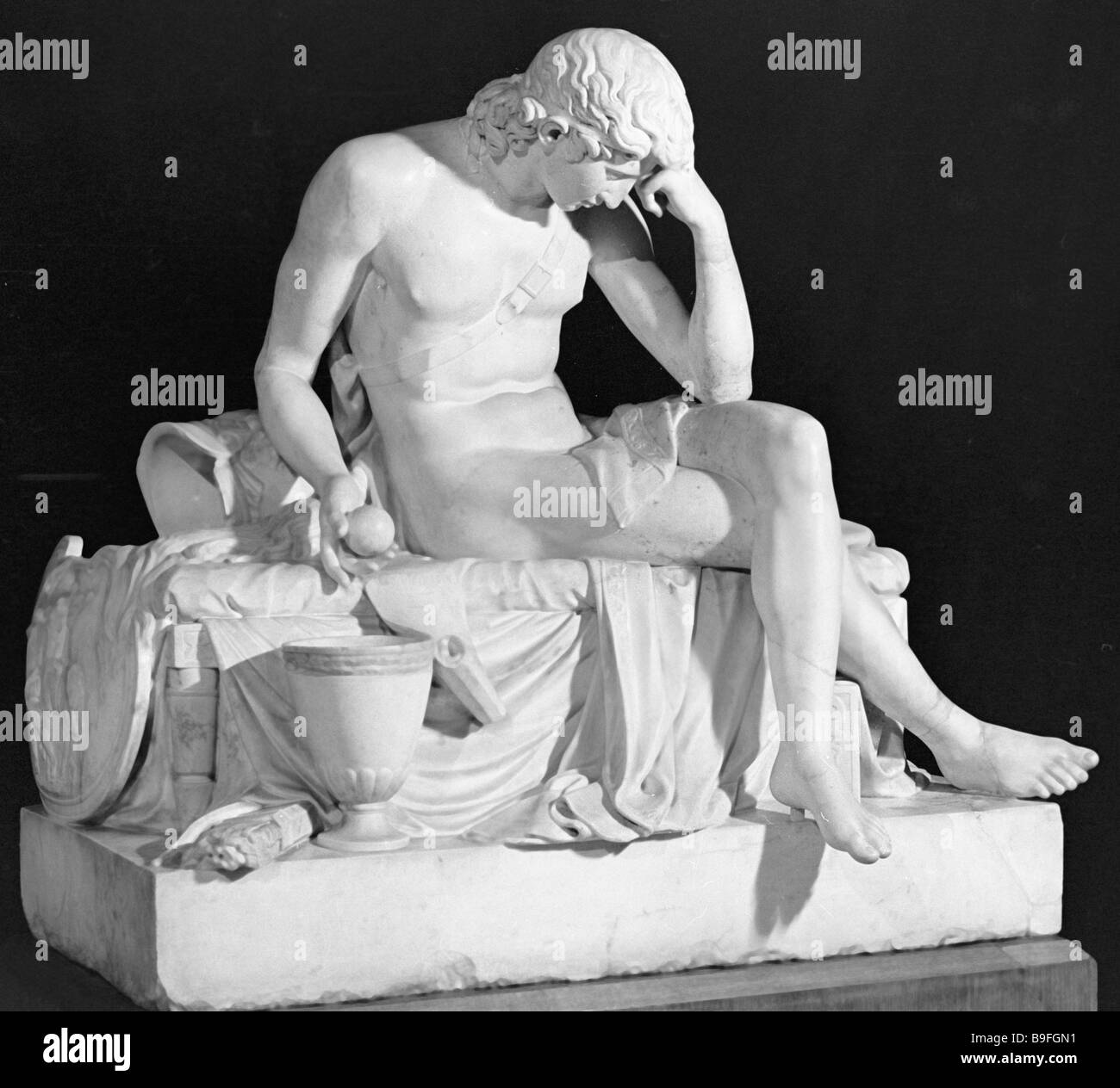 Wake of Alexander the Great a marble sculpture by Mikhail Kozlovsky Collection of the State Russian museum Stock Photo