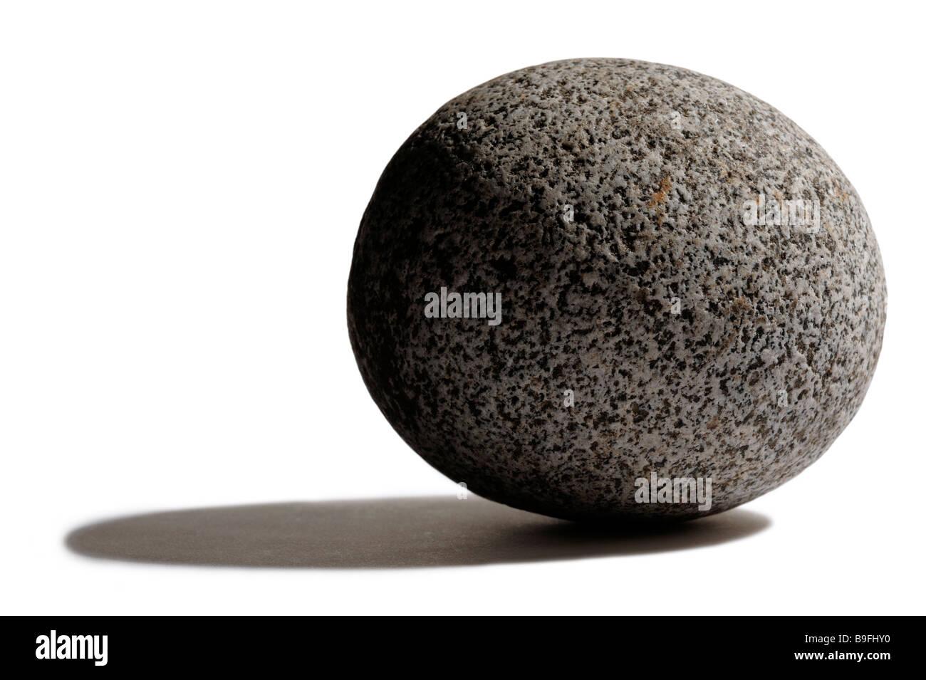 Round stone - Stock Image