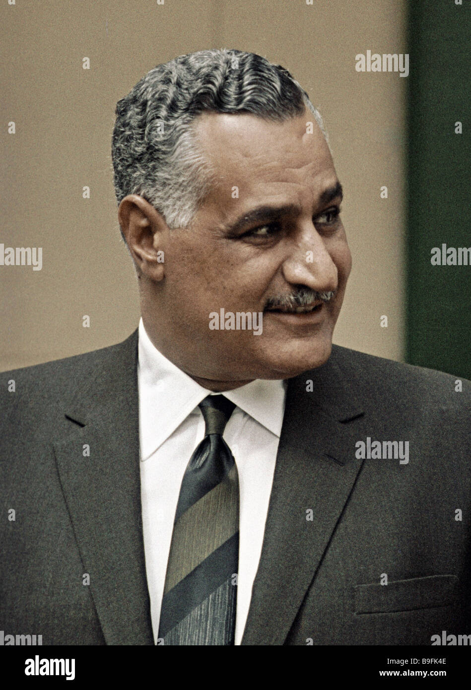 Gamal Abdel Nasser President of the United Arab Republic - Stock Image