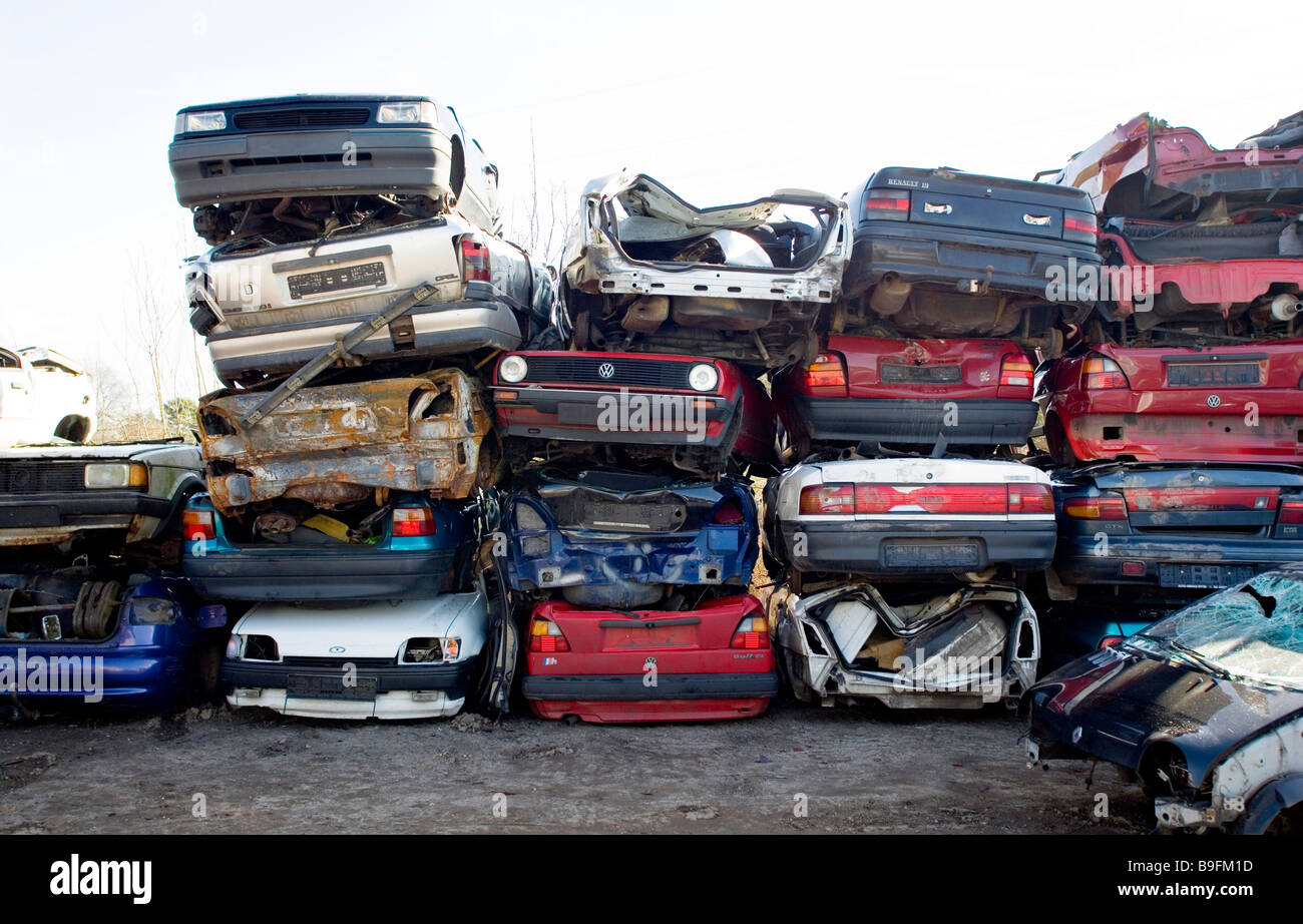 Old cars on a scrap yard Stock Photo: 23087273 - Alamy