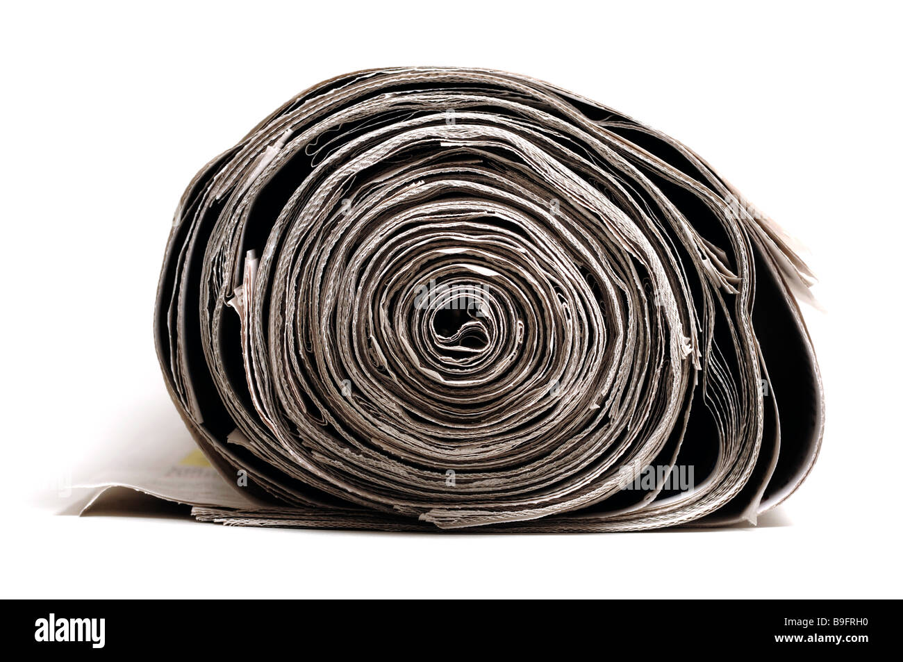 Roll of newspapers - Stock Image