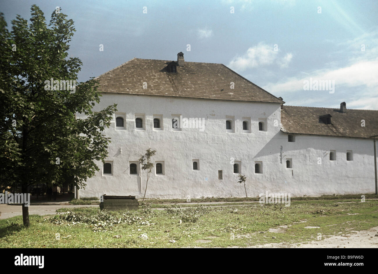 The seventeenth century Pogankiny Chambers in the city of Pskov - Stock Image