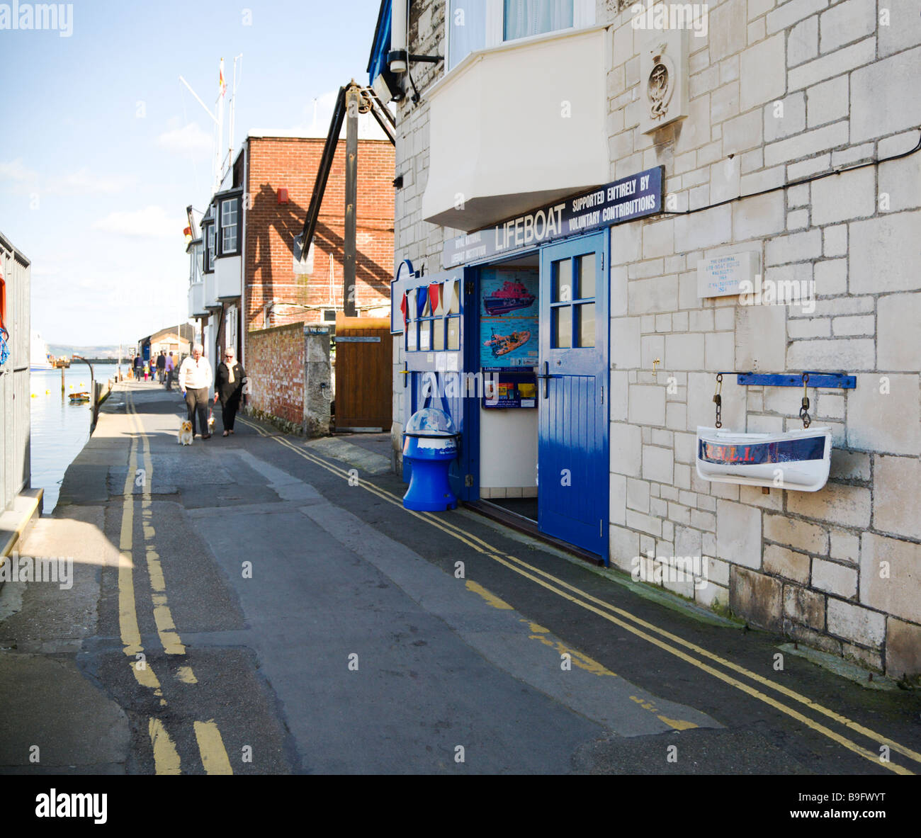 The original Lifeboat House on the quay dating from1924. Weymouth old harbour. Dorset. UK. - Stock Image