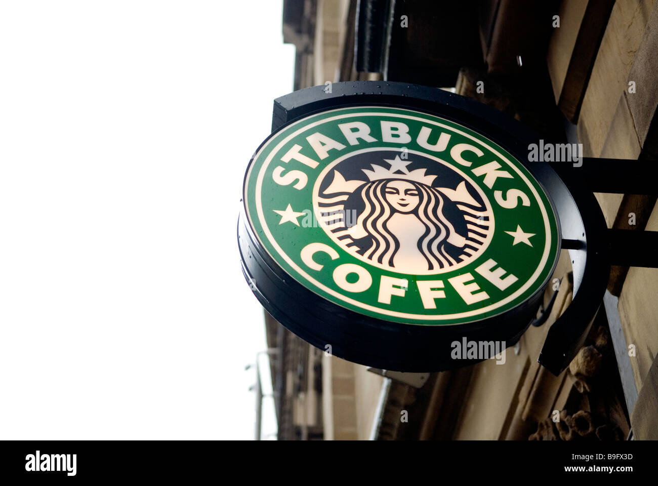 Starbucks Coffee sign in Manchester city centre UK - Stock Image