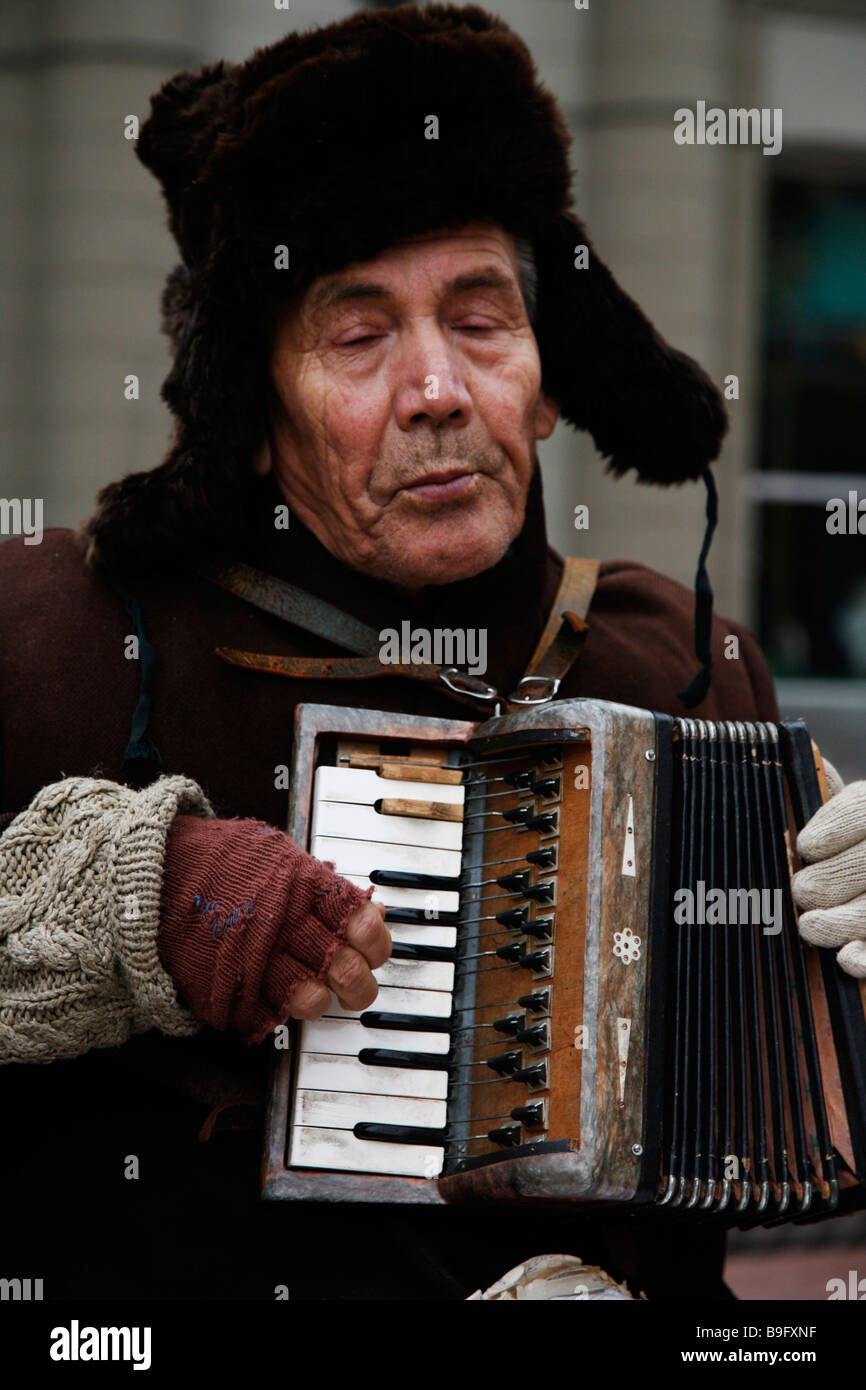 Russian Man With Accordion Stock Photos & Russian Man With