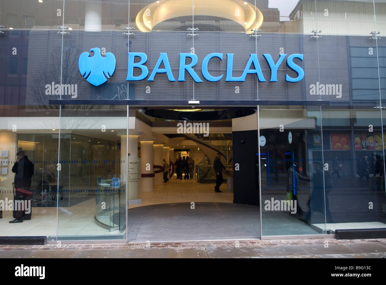 Barclays Bank on Market street Manchester city centre UK - Stock Image