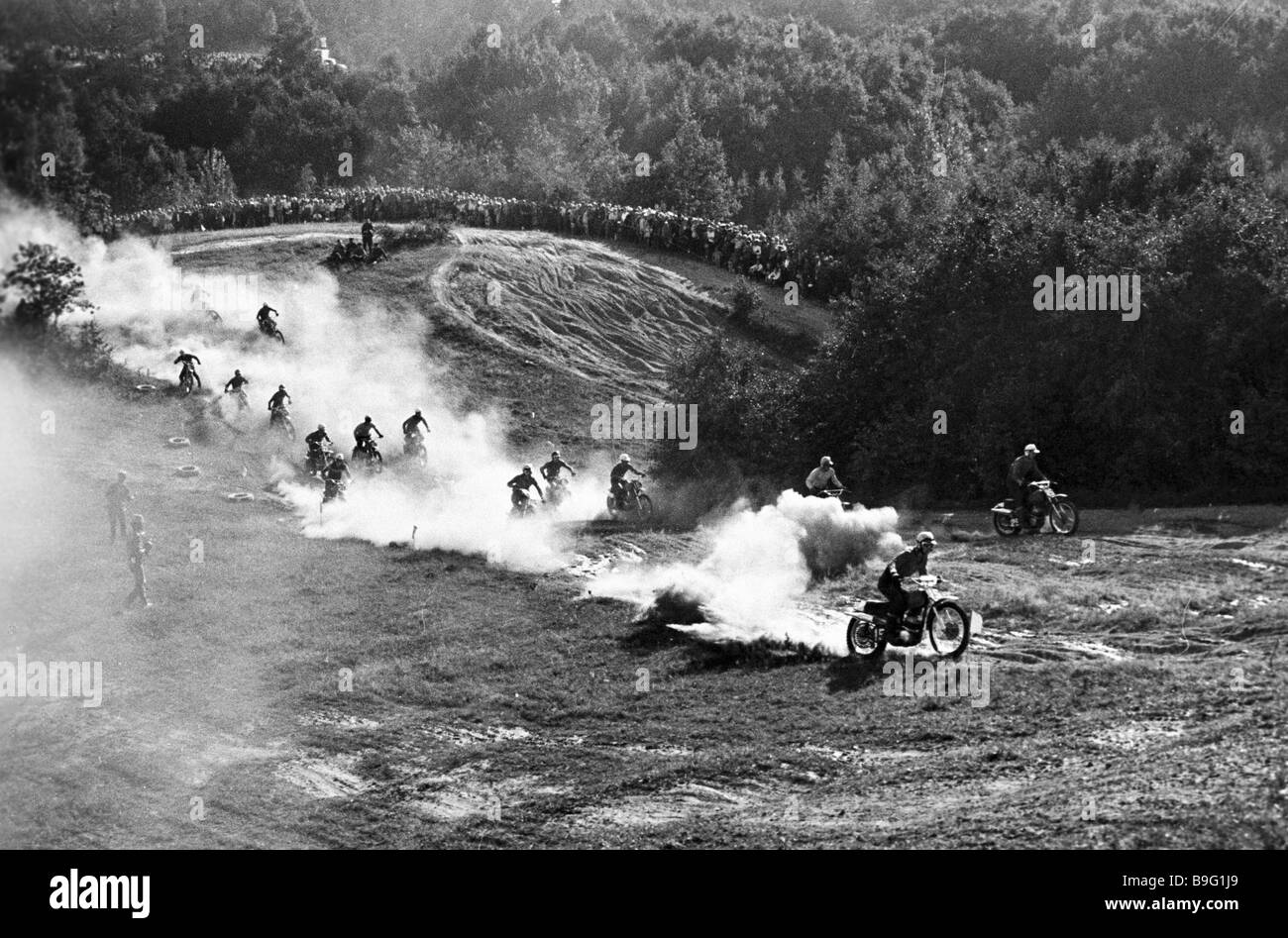 Racers on a leg of the international scramble in Yukka Stock Photo