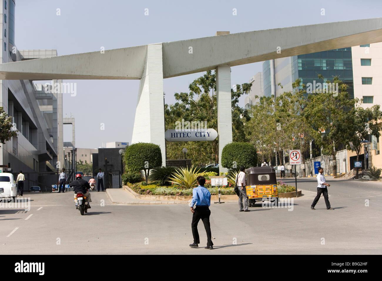 India Hyderabad Hi Tech city Motorola buildings Stock Photo