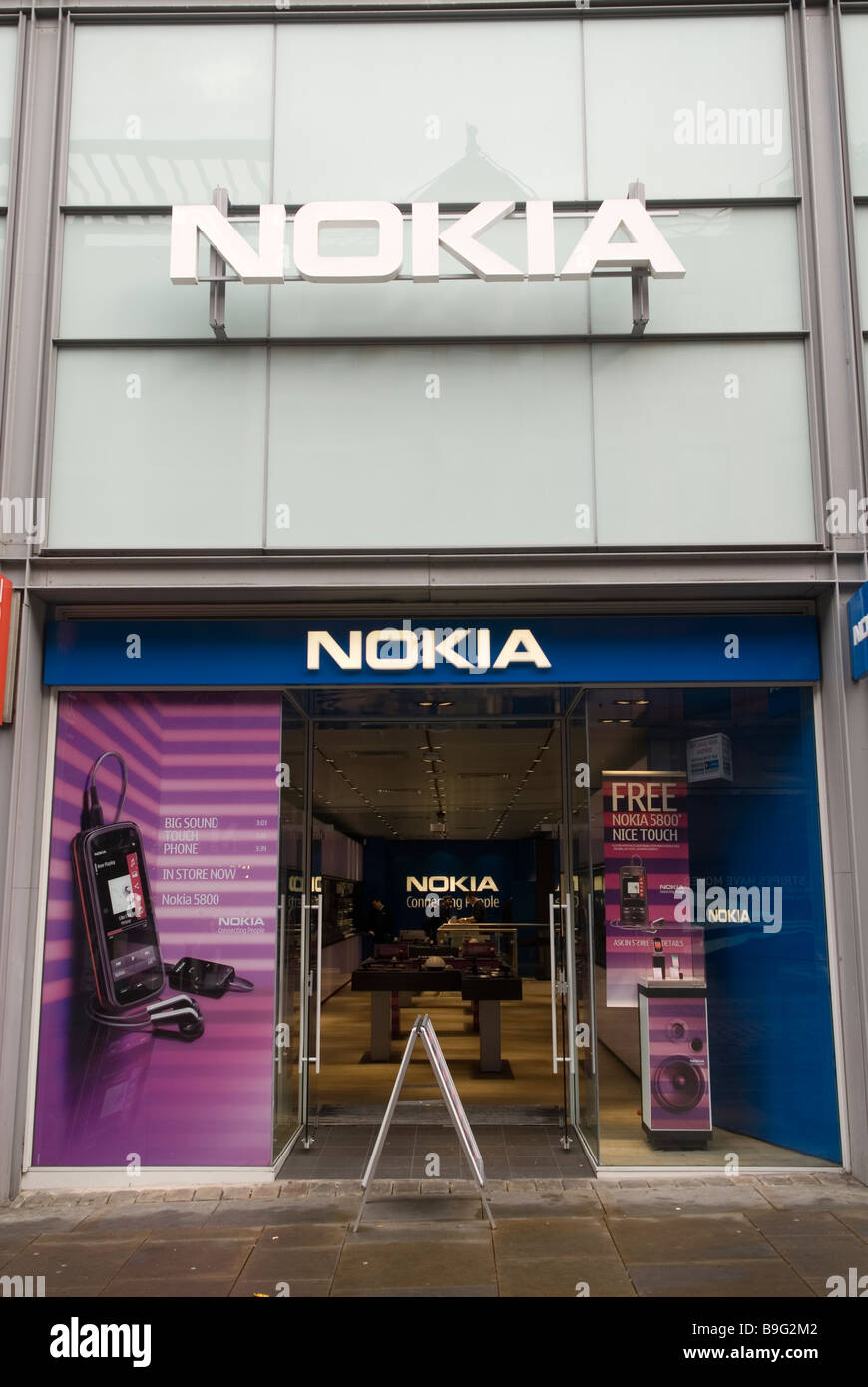 Nokia mobile telephone shop on Market street Manchester city centre UK - Stock Image
