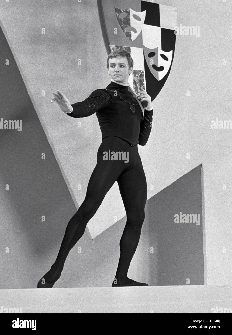 Ballet dancer Maris Liepa in a TV ballet film Hamlet - Stock Image