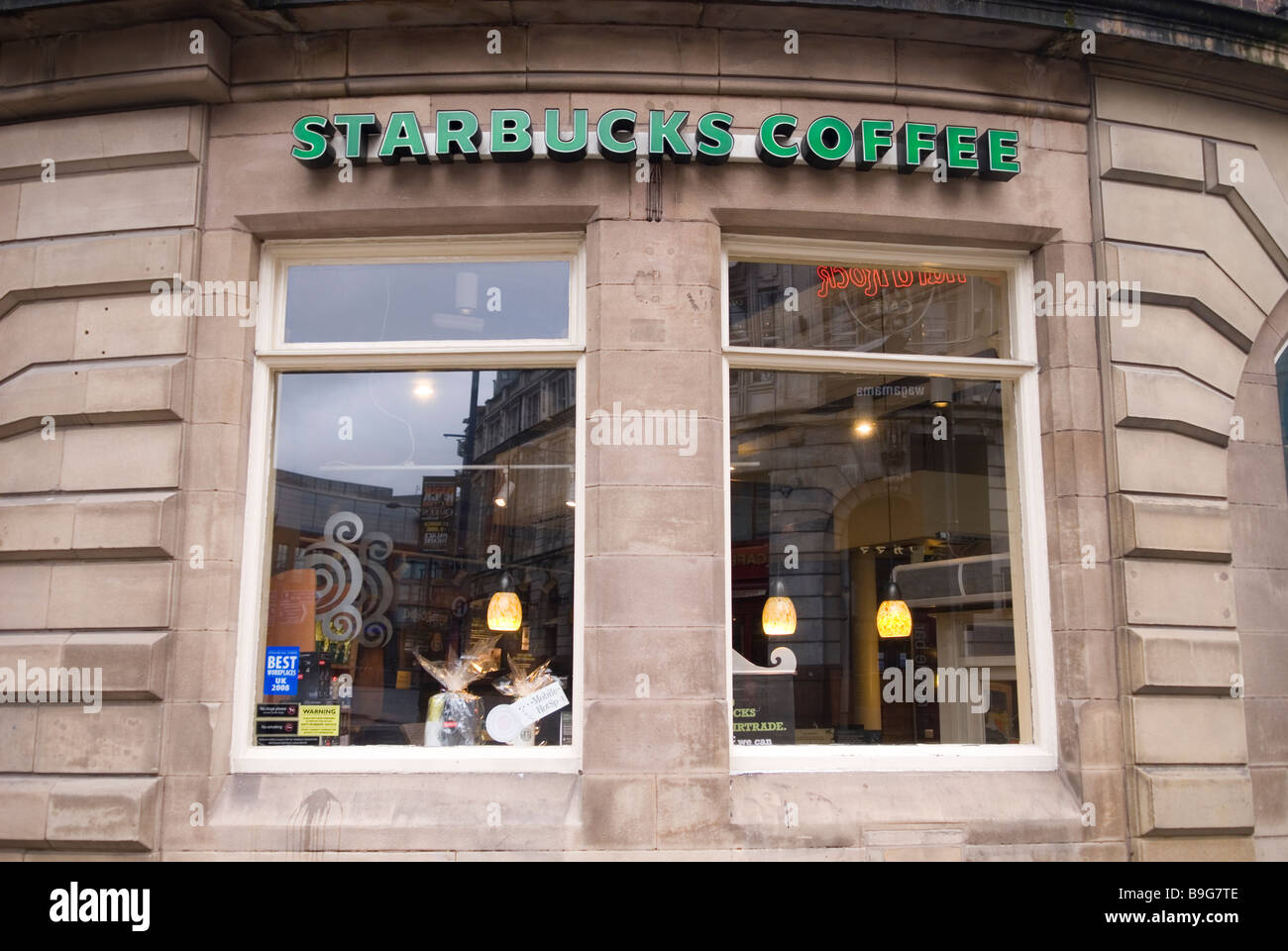 Starbucks Coffee in Manchester city centre UK - Stock Image