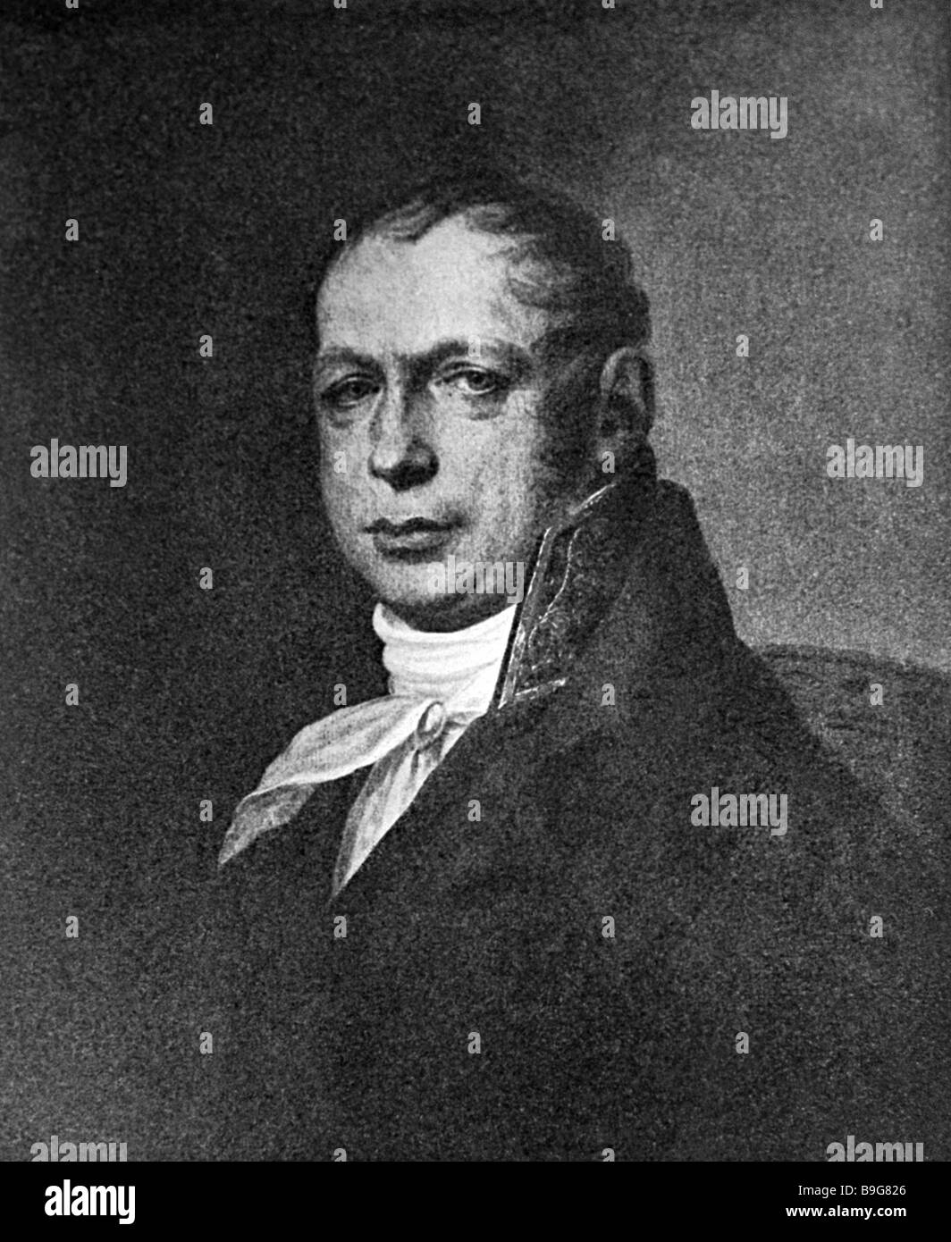 Russian architect Andreyan Zakharov 1761 1811 best known for designing the Admiralty building in St Petersburg - Stock Image