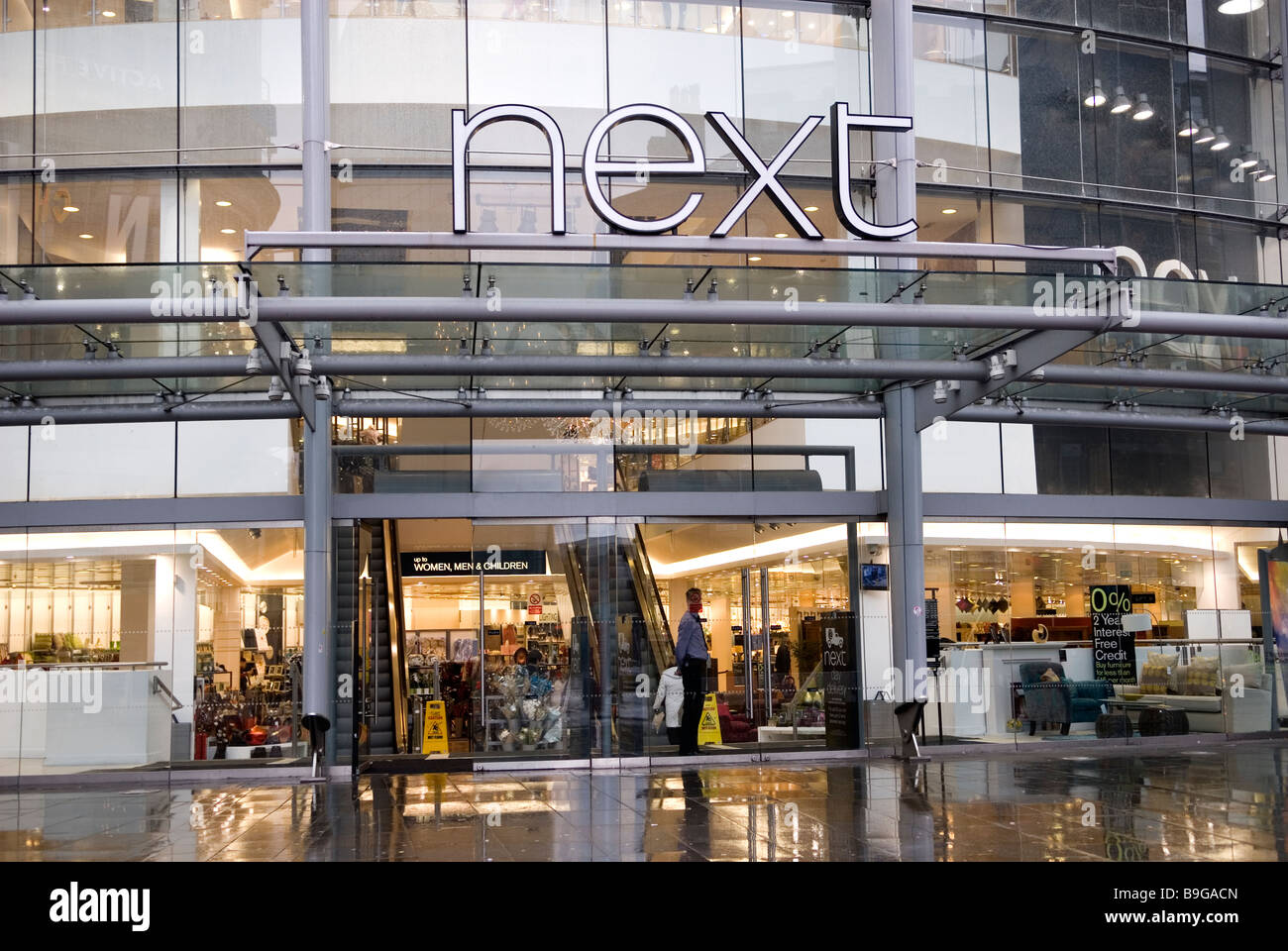 Next homeware and clothing store in Manchester city centre UK England - Stock Image
