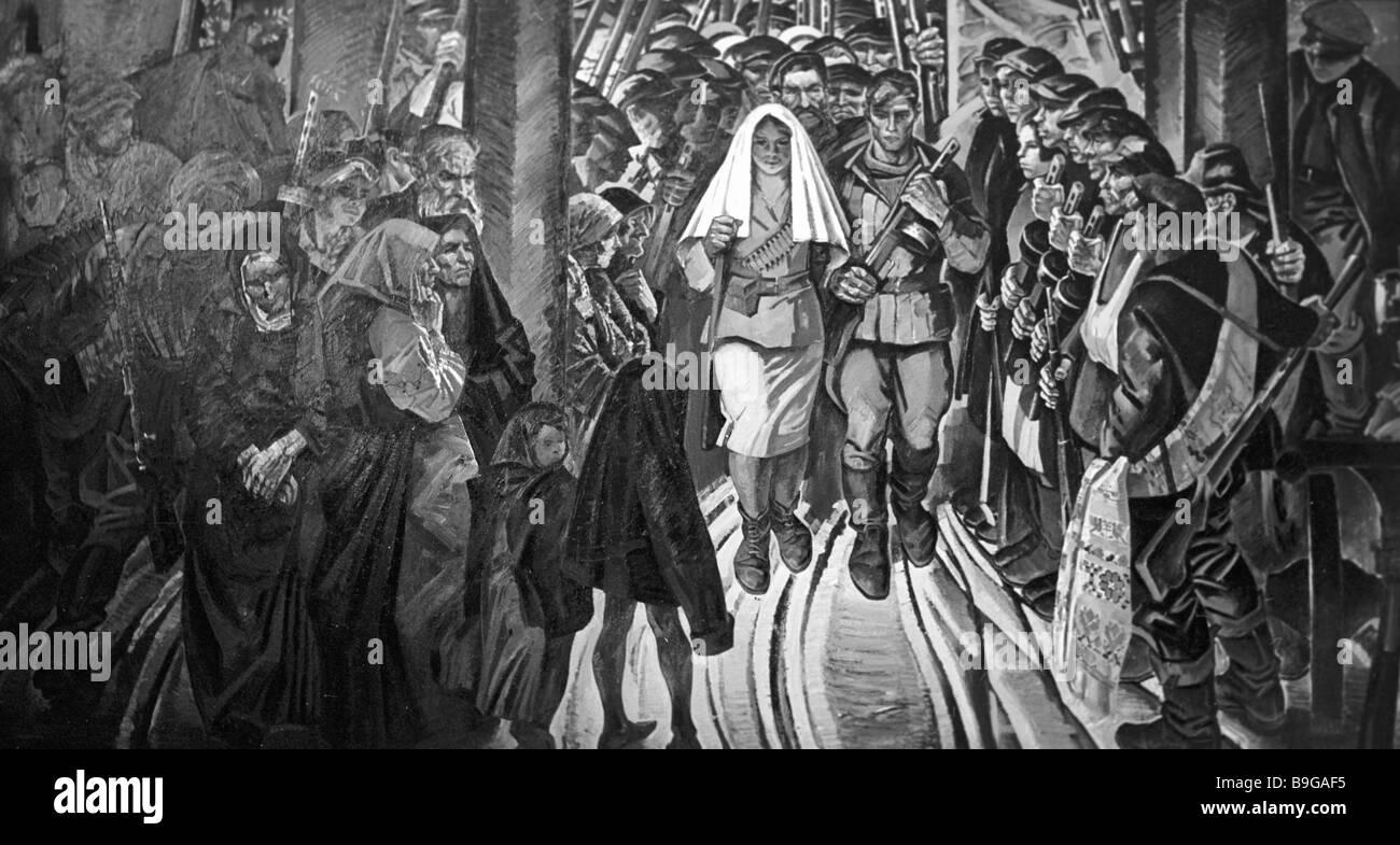 Mikhail Danzig A Guerrilla Wedding - Stock Image