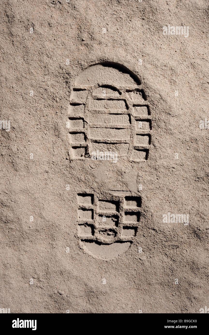 Moon footprint - Stock Image