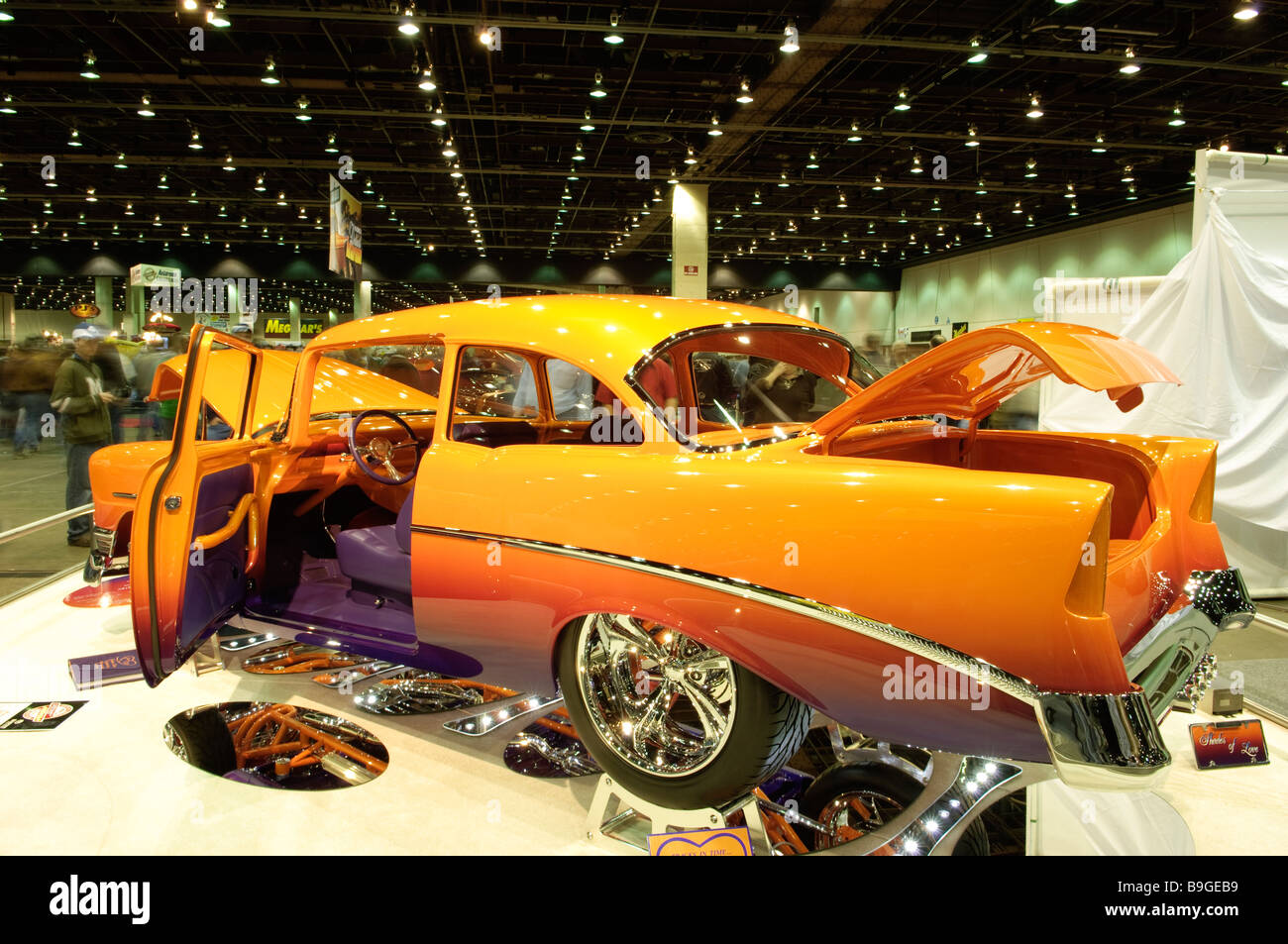 1956 Chevrolet 210 hard top hot rod at the 2009 Detroit Autorama - Stock Image