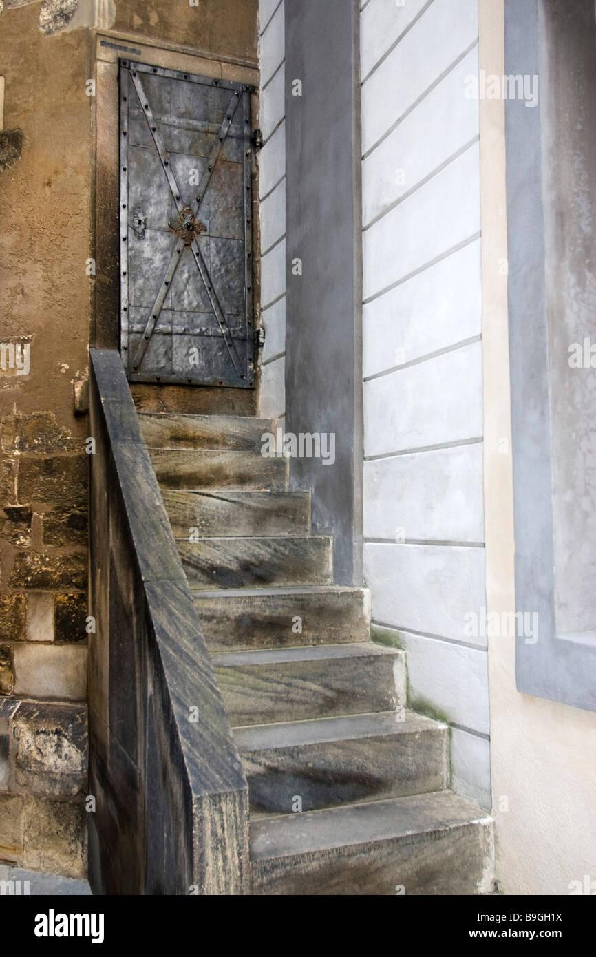 Narrow Staircase Door Stock Photos Narrow Staircase Door Stock