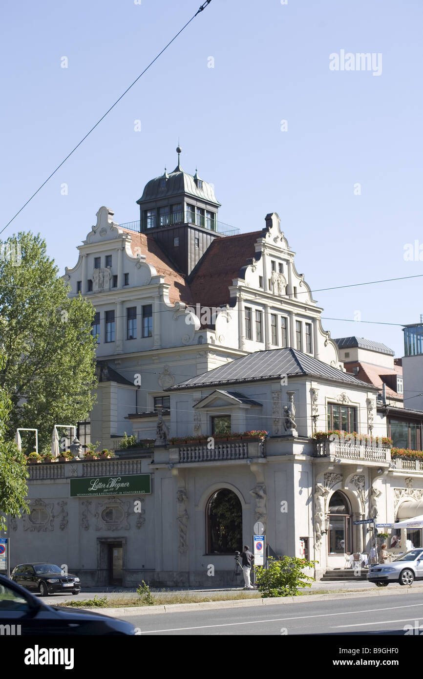 Germany Bavaria Munich Lenbachplatz artist-house - Stock Image