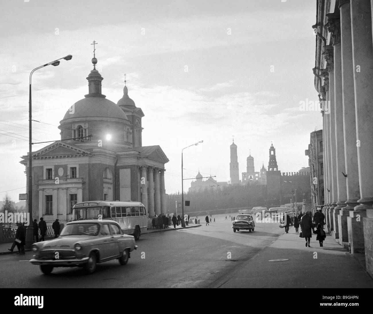 The St Barbara Church 1796 1804 in Razin Street in Moscow - Stock Image