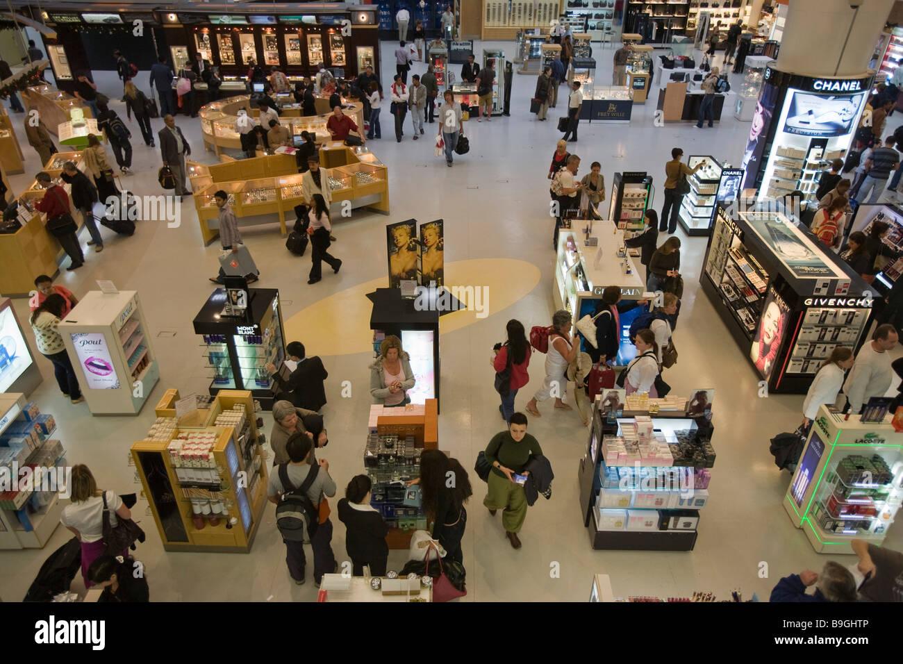 Qatar Doha Airport duty free Stock Photo