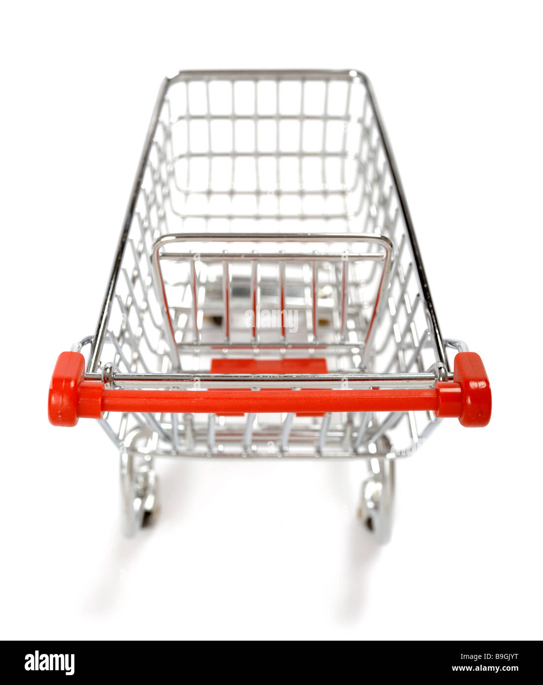 Miniature supermarket trolley - Stock Image