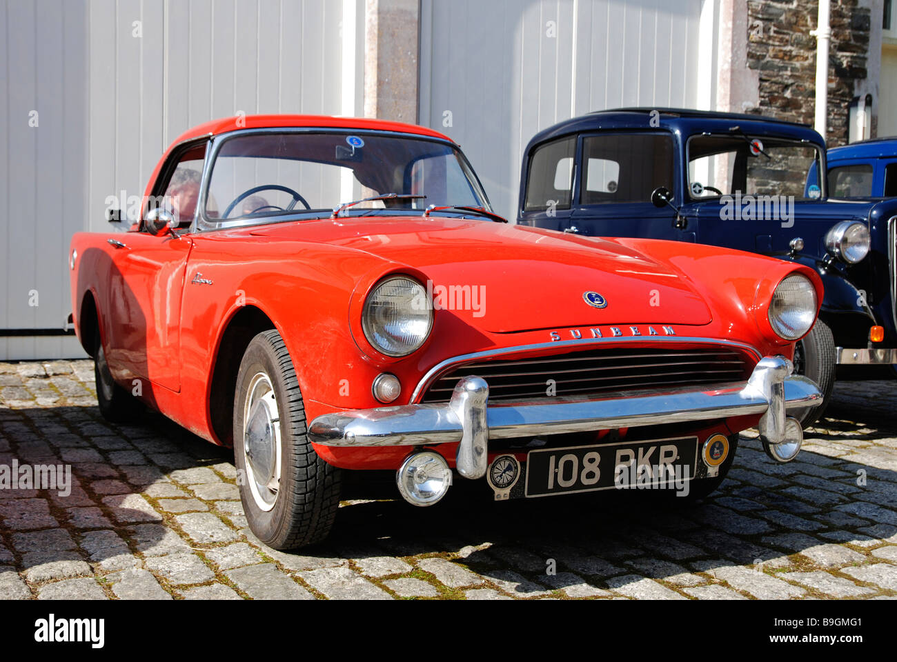 an old sunbeam alpine motor car, uk - Stock Image