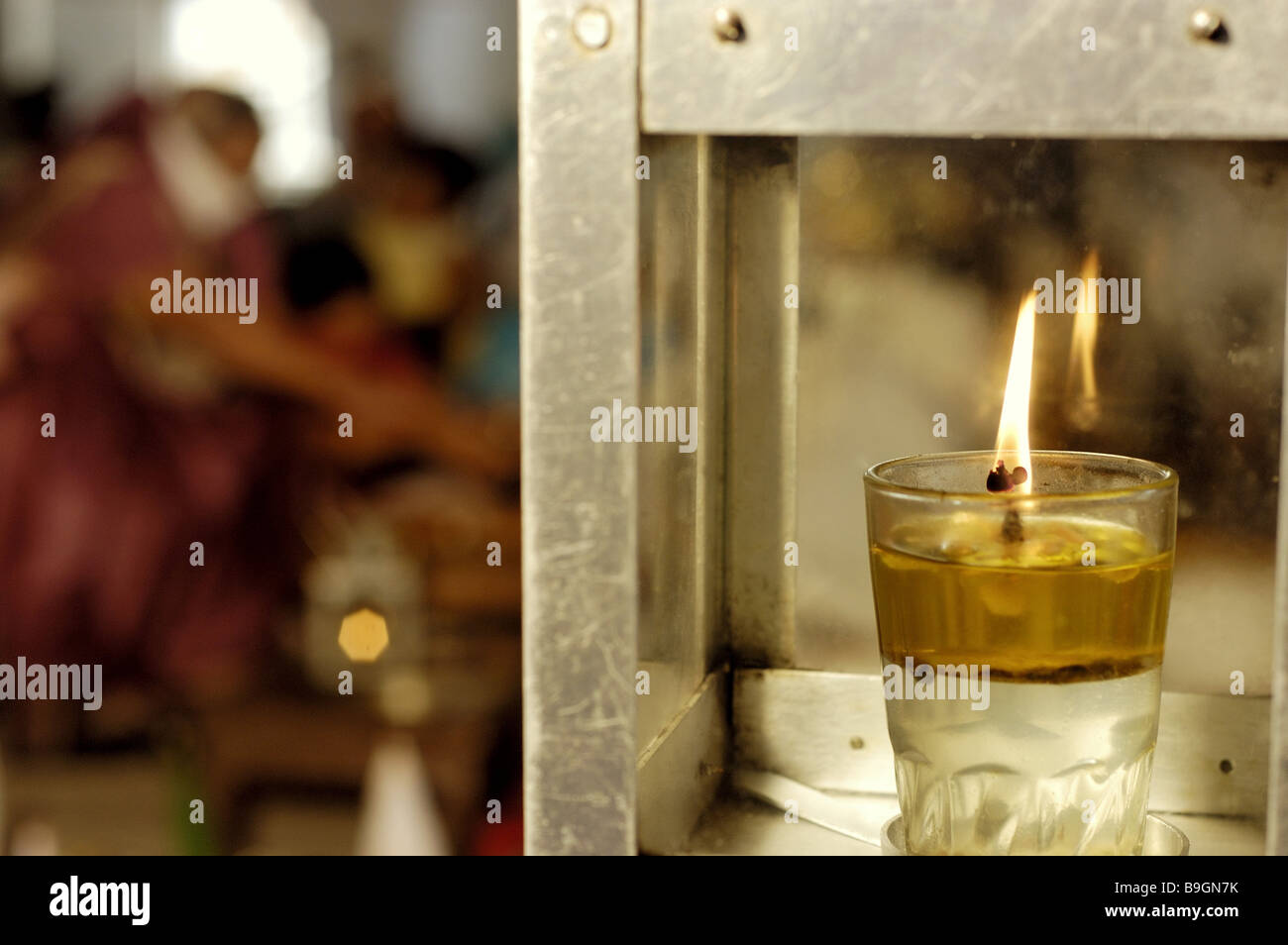 Oil Lamp Burning Fuzziness Light Lamp Glass Oil Wick Candle Wind Light  Fires Flame India Belief Religion Rite Mood Full Burning