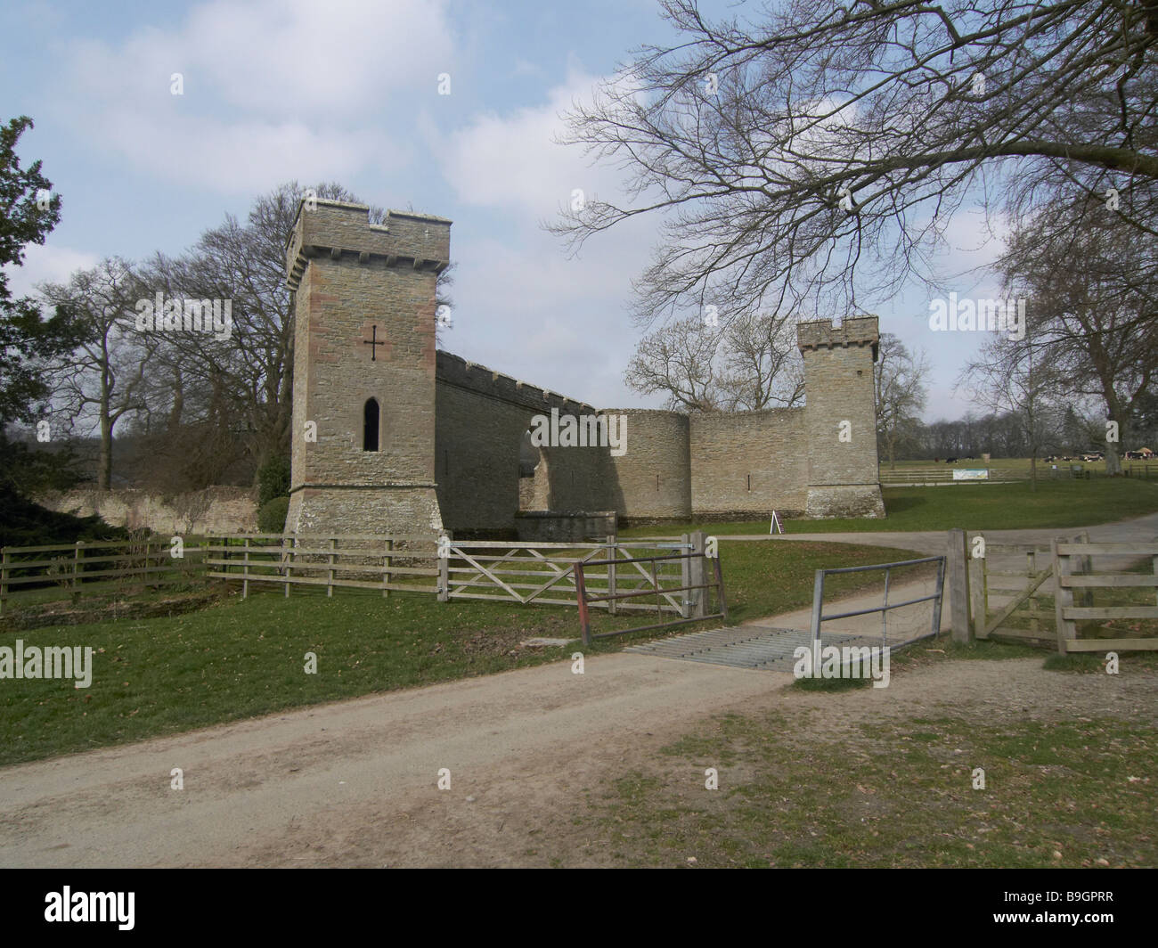croft castle grounds herefordshire - Stock Image