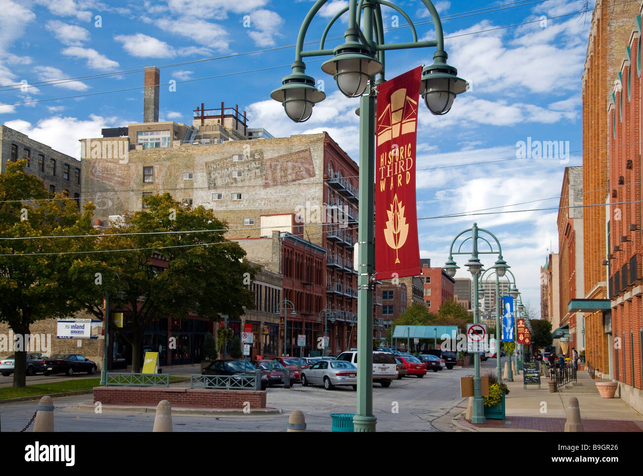 The Third Ward Historic, a renovated warehouse district in Milwaukee, Wisconsin - Stock Image