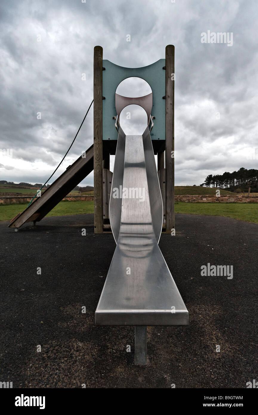 Children's slide - Stock Image