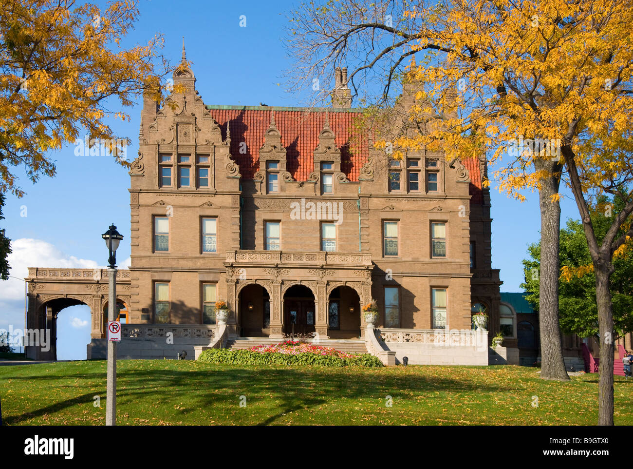 Pabst Mansion Milwaukee Wisconsin - Stock Image