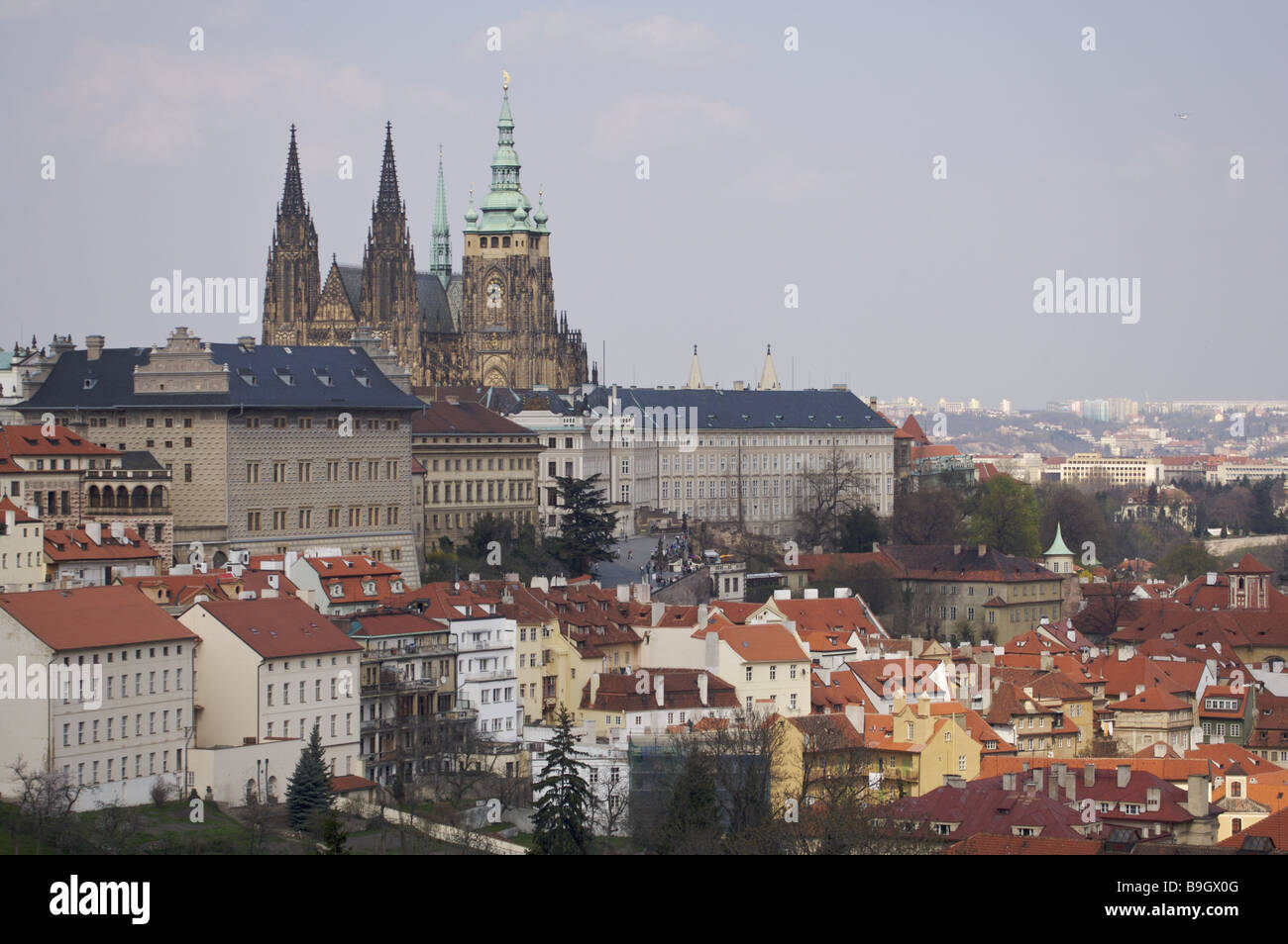 The Czech republic Prague city view cathedral
